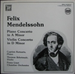 FELIX MENDELSSOHN - PIANO CONCERTO IN A MINOR