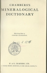 CHAMBERS`S MINERALOGICAL DICTIONARY